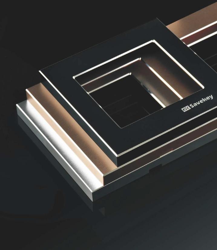Włączniki dotykowe SaveKey - ramki aluminiowe