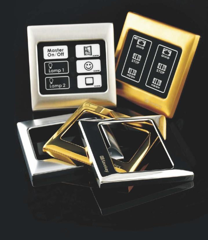 Włączniki dotykowe SaveKey - ramki metalowe